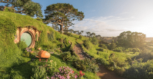 Exploring-Hobbiton-while-on-a-New-Zealand-Gap-Year.