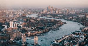 Ariel view of London