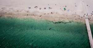 Ariel view from Gap Assistant of Western Australian beach