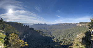 Australian Gap Year reflection and photo of the blue mountains