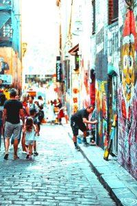 Melbourne graffiti Australian gap year Letz Live